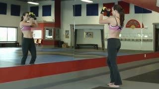 Woman Doing Martial Arts Exercises 4