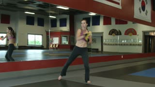 Woman Doing Martial Arts Exercises 5