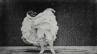 Woman Doing Strange Dance in Vaudeville Show