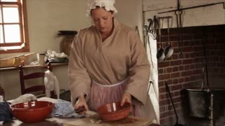 Woman in Colonial Kitchen