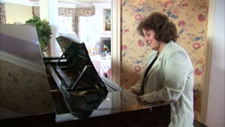 Woman Plays on the Piano 2