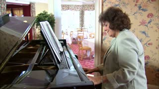 Woman Plays on the Piano 3