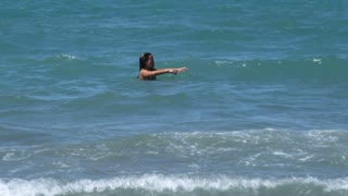 Woman Swimming In Ocean 2