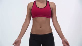Womans Torso in Workout Clothes