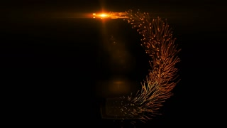 Wonderful video animation with particles tree. Loopable Particles ring