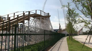 Wooden Coaster Goes Around the Bend