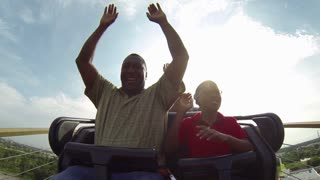 Wooden Coaster Riders Hands Up