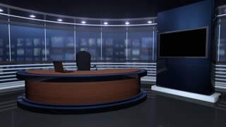 Wooden Virtual Anchor Desk
