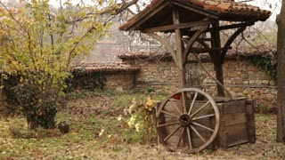 Wooden Well in Romanian Backyard