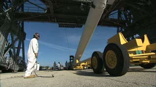Worker Oversees Rising Rocket 2