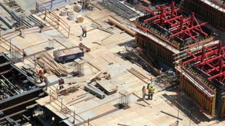 Workers at Construction Zone Time Lapse 2