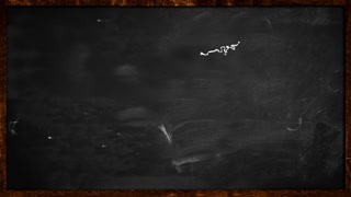 World Chalk Sketch on Blackboard Looping Animation