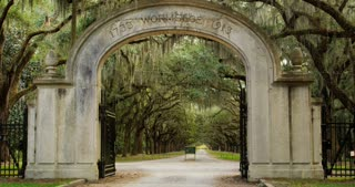 Wormsloe Plantation Entrance Gate