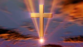 A cross in an orange dawn (Loop)