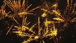 Yellow Fireworks Exploding