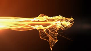 Yellow Flame Flourish Motion Background