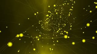 yellow light particles abstract motion background