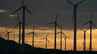 Yellow Sunset Windmills