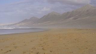 Young man jogging on the seashore, slow motion shot at 240fps