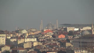 Zoom From Istanbul Mosque to City Outskirts