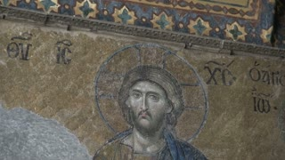 Zoom From Jesus Mosaic on Mosque Wall