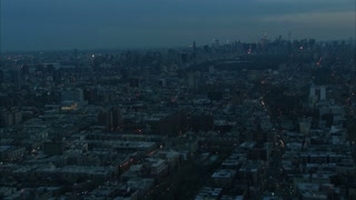 Zoom In NYC Midtown Manhattan Aerial