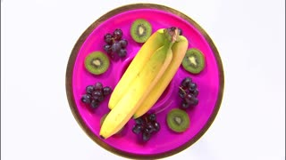 Zoom In on Purple Plate Fruit Platter