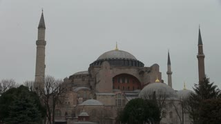Zoom on Hagia Sophia Spires and Dome