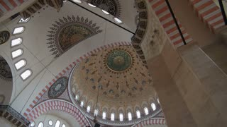 Zoom on Suleymaniye Mosque Dome artwork