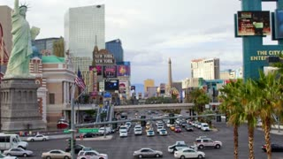 Zoom Out Daylight Vegas Timelapse