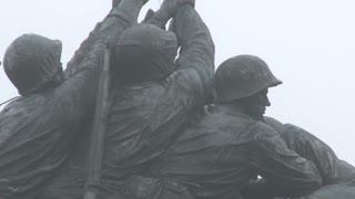 Zoom Out Famous Iwo Jima Statue