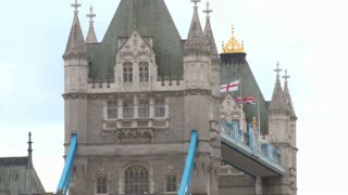 Zoom Out Flags On Tower Bridge