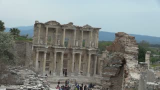 Zoom Out From Ephesus Temple Ruins 2