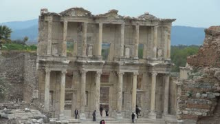 Zoom Out from Ephesus Temple Ruins