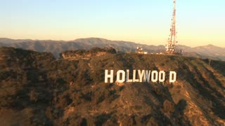 Zoom Out Hollywood Sign Aerial