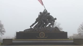 Zoom Out Iwo Jima Statue