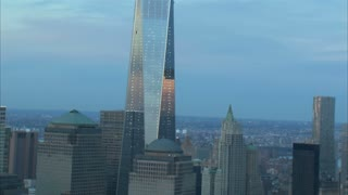 Zoom Out New York City Freedom Tower Aerial