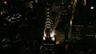 Zoom Out NYC Chrysler Building Aerial