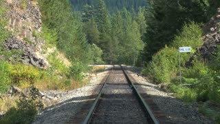 Zoom Out Railroad Tracks