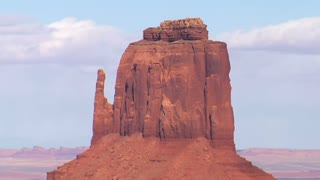 Zoom Out Shot Monument Valley Utah