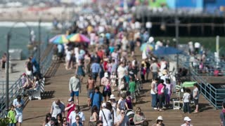 Zoom Out Tilt Shift California Pier Timelapse
