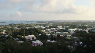 Zoom Out Timelapse Over Bermuda Landscape