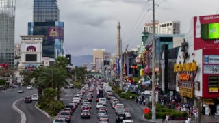 Zoom Out Vegas Daytime Street Timelapse