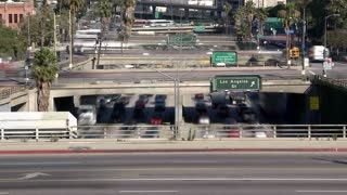 Zooming Cars In LA Rush Hour