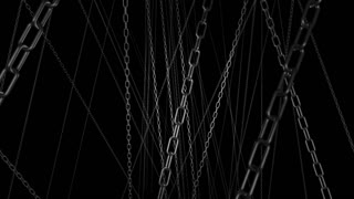 Zooming Through Hanging Chains Animation 2