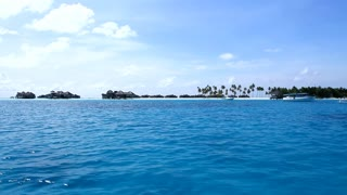 A View on Tropical Island from Riding Boat