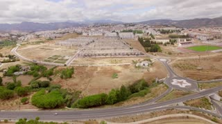 Aerial. Flight Over Ronda Suburb in Andalucia