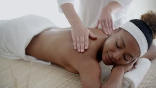 Back Massage On Woman