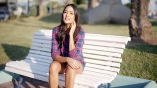 Beautiful Woman At The Park