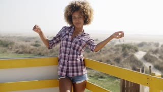 Cheerful Young African Woman Happy